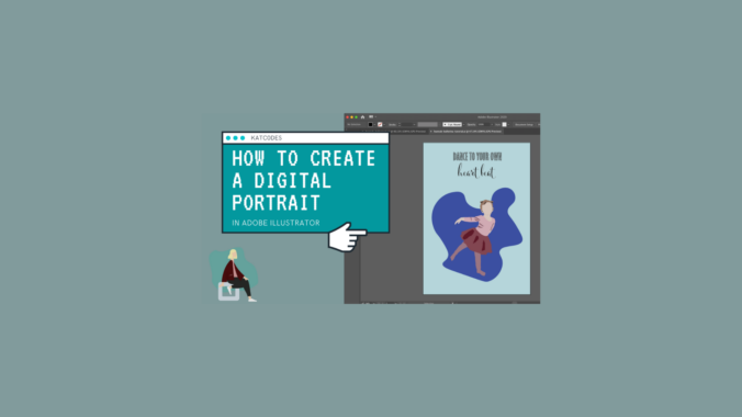 tutorial how to make a digital portrait in adobe illustratos