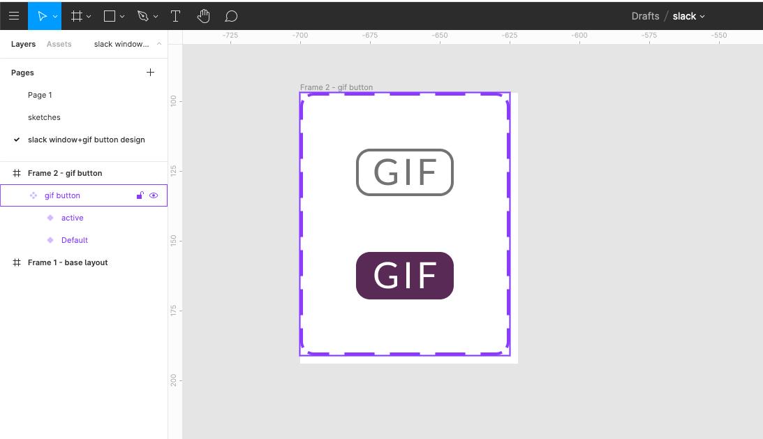 gif button design